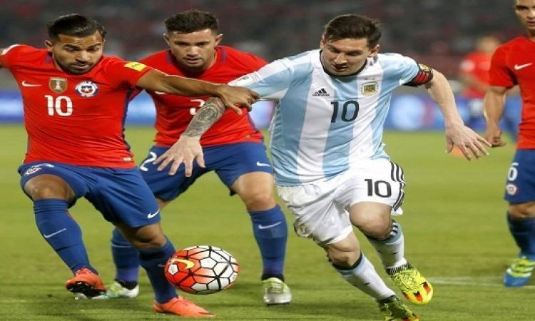 الأرجنتين تنافس تشيلى على المركز الثالث فى كوبا أمريكا الليلة