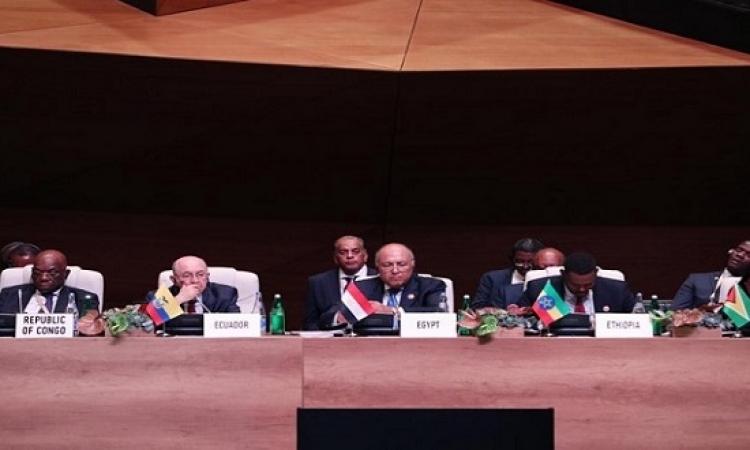 شكرى يعرض الرؤية المصرية للأوضاع الإقليمية أمام قمة عدم الإنحياز فى باكو