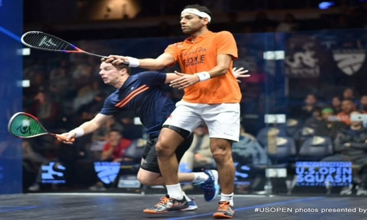 الشوربجى ومؤمن يتأهلان لربع نهائى بطولة أمريكا المفتوحة للإسكواش