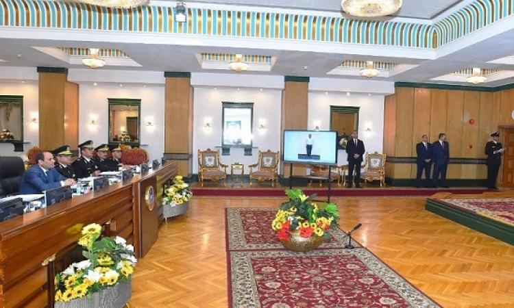 السيسى يزور اكاديمية الشرطة ويتابع اختبارات كشف الهيئة للطلبة الجدد