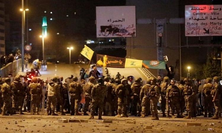 إطلاق نار بين انصار حزب الله والمتظاهرين لليلة الثانية على التوالى