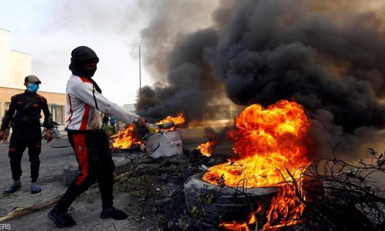 حرق القنصلية الايرانية فى النجف للمرة الثانية