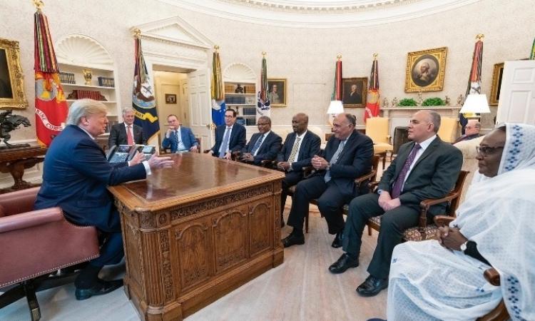 ترامب يلتقى الوزراء المشاركين فى اجتماعات سد النهضة بواشنطن