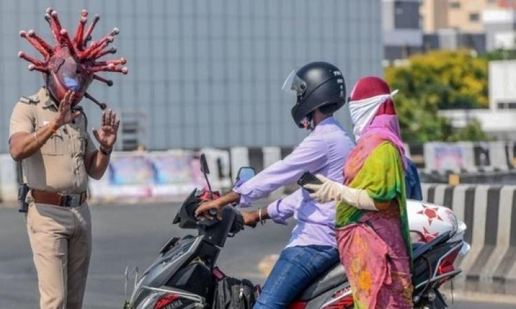 تجاوز الاصابات اليومية بكورونا فى الهند الـ 14500