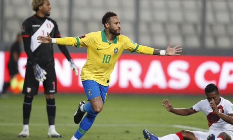 هاتريك نيمار يقود البرازيل لقهر بيرو بتصفيات مونديال 2022