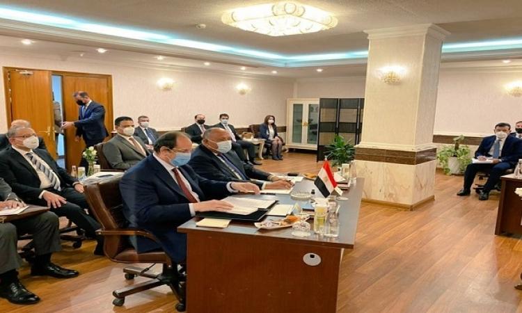عقد اجتماع آلية التعاون الثلاثي بين مصر والعراق والأردن فى بغداد بمشاركة شكري واللواء عباس كامل