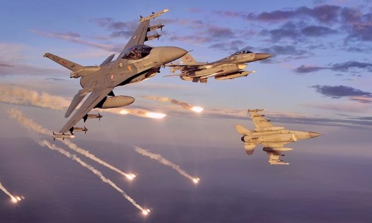 الطيران التركى يستهدف منطقة كردية فى الرقة شمال سوريا