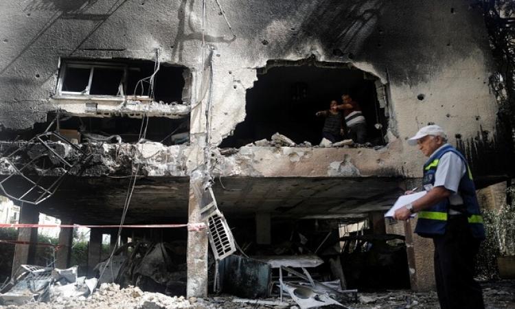 قصف صاروخى فلسطينى لعسقلان وبئر سبع وإسدود .. وارتفاع القتلى الاسرائيليين إلى 8