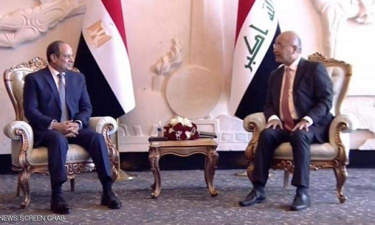 الرئيس السيسى يصل بغداد للمشاركة فى فعاليات القمة الثلاثية بين مصر والعراق والأردن