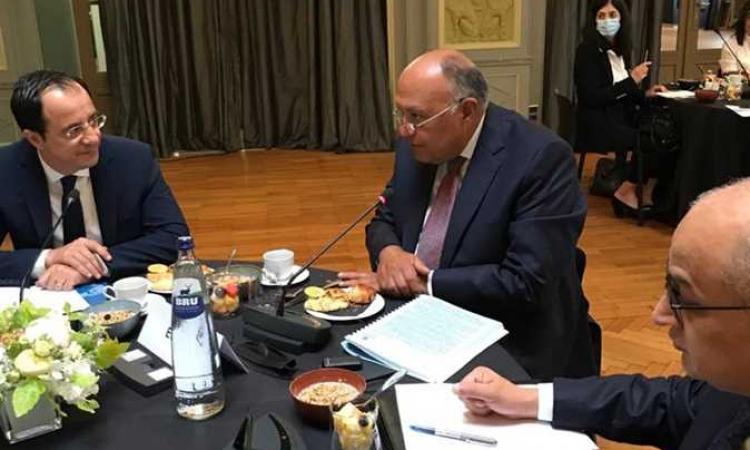 شكري يشارك فى إفطار عمل مع وزراء الخارجية الأوروبيين لمناقشة التعاون الثنائى