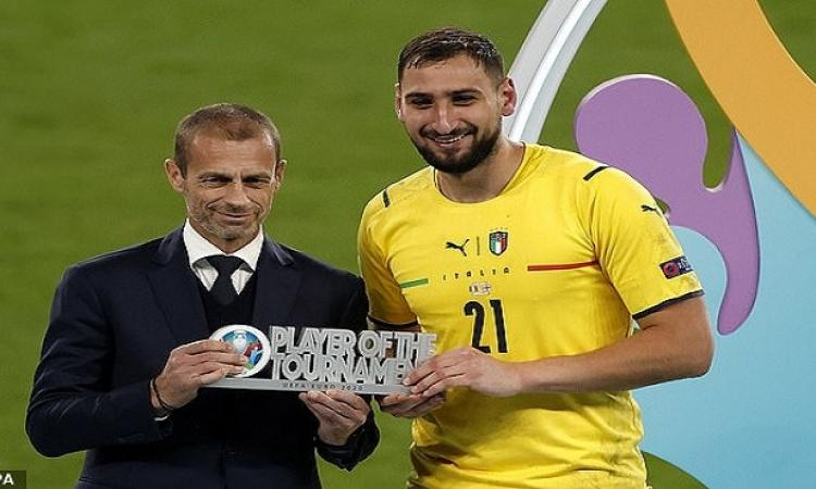 حارس ايطاليا يفوز بجائزة افضل لاعب فى يورو 2020
