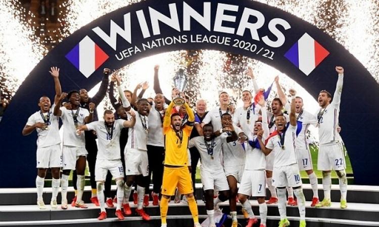 فرنسا تتوج بالنسخة الثانية لدوري الأمم الأوروبية على حساب إسبانيا