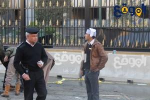 احد المصابين في احداث انفجار مبني مديرية امن القاهرة