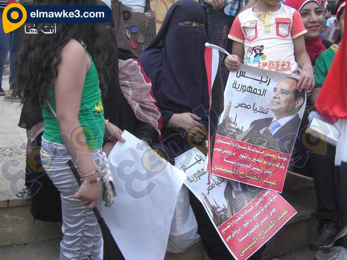 احتفال السيدات بفوز السيسي في التحرير (2)
