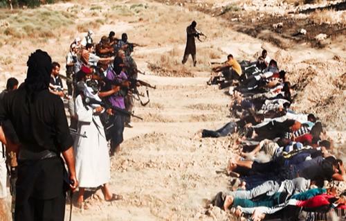 اعضاء داعش يطلقون النار على طلبة الكلية الجوية الشيعة