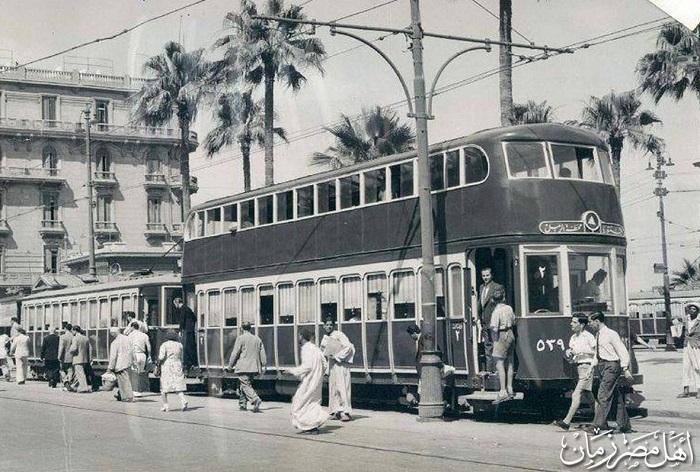 ترام الأسكندرية في محطة الرمل