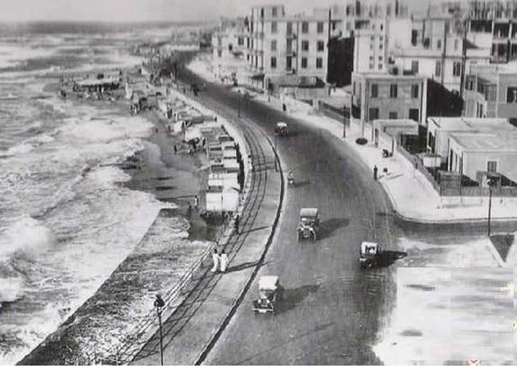 كورنيش الأسكندرية بمنطقة سبورتنج