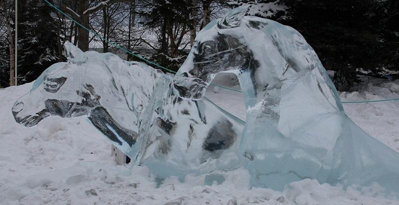 المنحوتات الثلجية  6