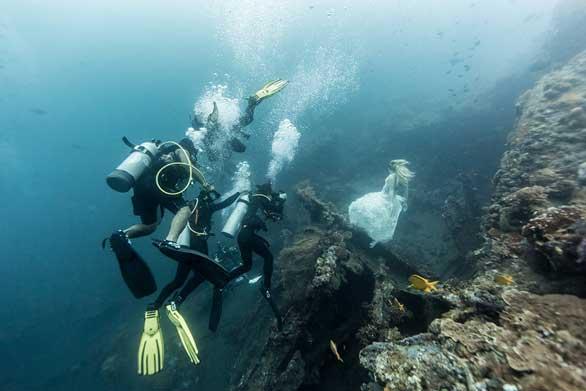 حسناوات في قاع البحر