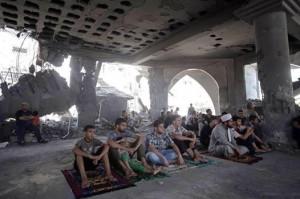 قصف مسجد في غزة