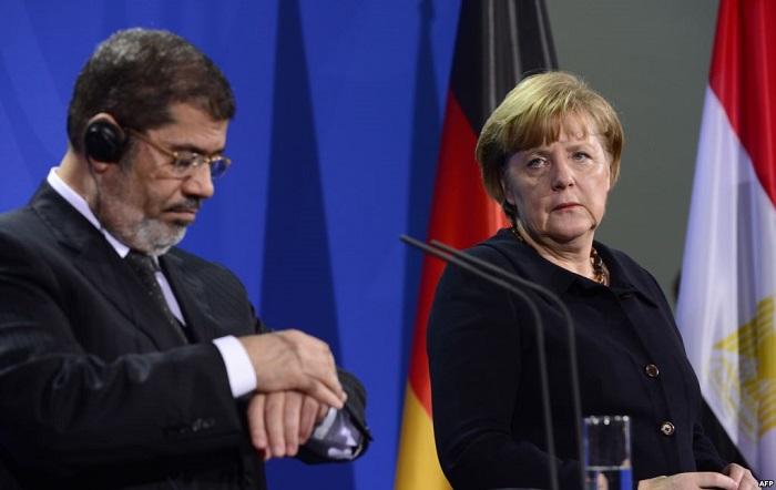 مرسي و ميركل