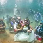 زفاف في قاع البحر