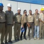 بالصور.. أحمد عز بزي العمال في زيارته لمصنعه بالعين السخنة