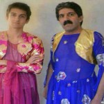 رجال بملابس نسائية