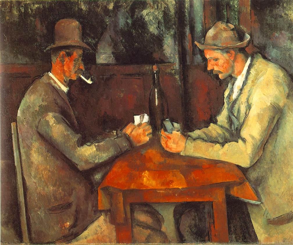 لوحة لاعبــو الـورق