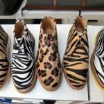 أحذية بنقش جلد النمر