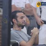 أحمد دومة يجلس على كرسى متحرك
