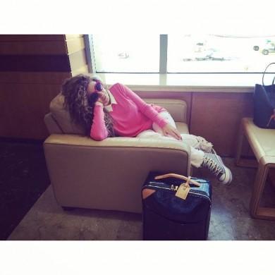 صورة ميريام في مطار بيروت