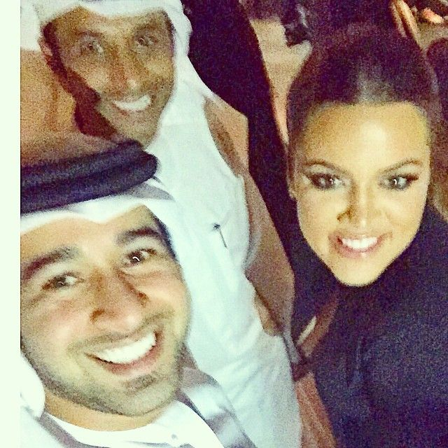 فايز السعيد  إلتقط صور selfie مع كلوي كاردشيان