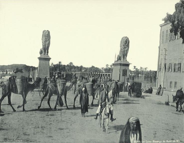 كوبري قصر النيل بالقاهرة سبعينات القرن التاسع عشر