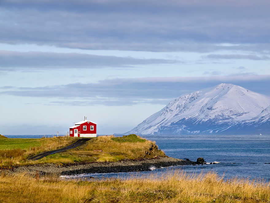 منزل التلة فى ايسلند