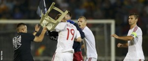 3الغاء مباراة صربيا والبانيا