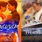 الصورة في الأيسر هي لفيلم Mausam الصادر عام 2011، والصورة في الأيمن هي لفيلم Titanic الصادر عام 1997