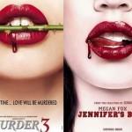 الصورة في الأيسر هي لفيلم Murder 3 الصادر عام 2013، والصورة في الأيمن هي لفيلم Jennifer's body الصادر عام 2009