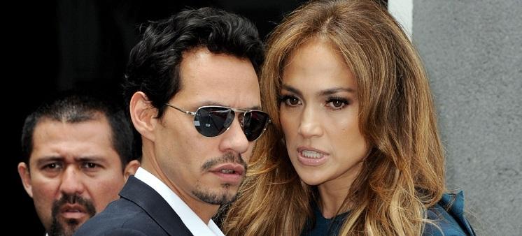 مارك انتوني وزوجته السابقة جنيفر لوبيز