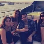 محمد التركى مع كيم وصديقتيها