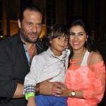 ماجد المصرى و زوجته و ابنة