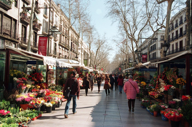 شارع لا رامبلا برشلونة أسبانيا
