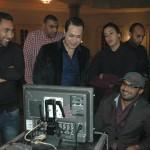 حكيم يتابع عمل المخرج محمد عبد الجواد