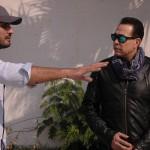 حكيم يستمع إلى تعليمات المخرج محمد عبد الجواد