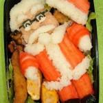 طبق طعام على هيئة بابا نويل