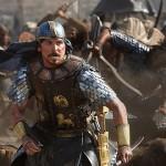 كرستيان بيل اثناء معركة فى فيلم النبى موسى