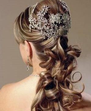 سريحة الشعر المرفوع بشكل جزئي