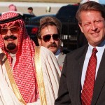Saudi Crown Prince Abdallah ibn Abdel Aziz (L) and