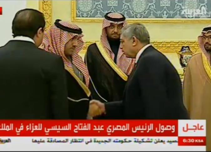 السيسى يعزى فى الملك عبد الله