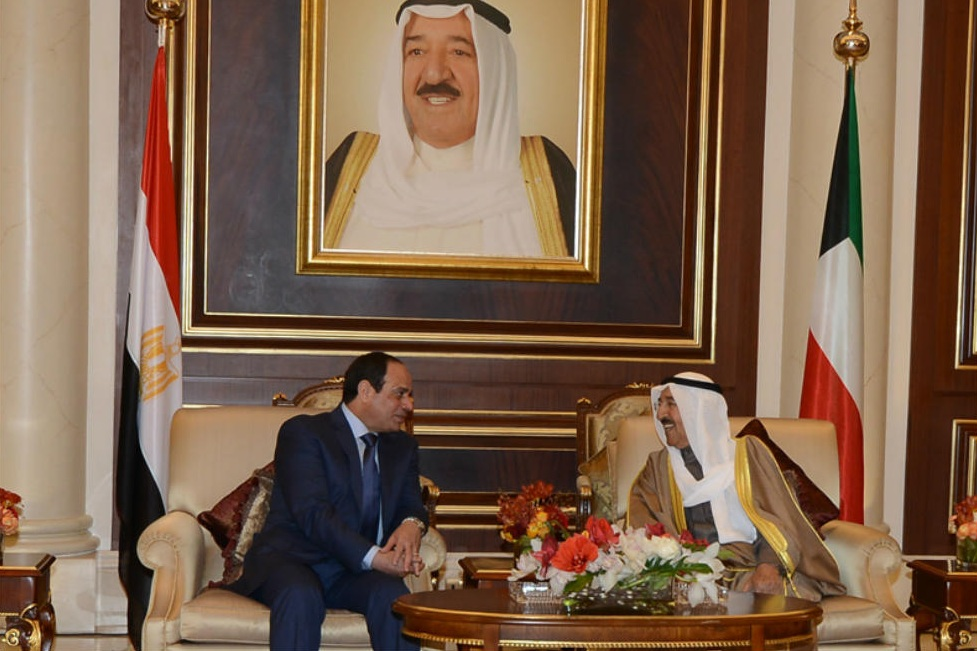 القمة المصرية الكويتية بين السيسى و امير الكويت